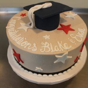 Grad Cap Stars Cake