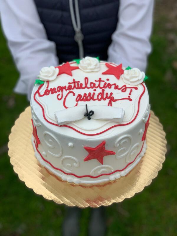 Stars Grad Cake